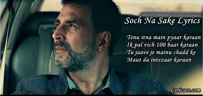 Soch Na Sake Lyrics Arjit Singh Tulsi Kumar Lyricsez