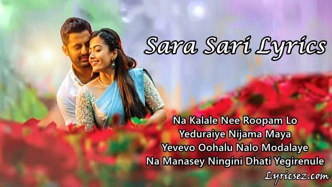 Sara Sari Lyrics Bheeshma Anurag Kulkarni Lyricsez